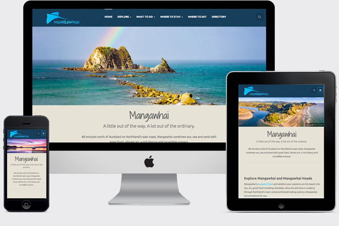 Appealing, responsive website design from Get Spotted, Wellsford-based website design studio