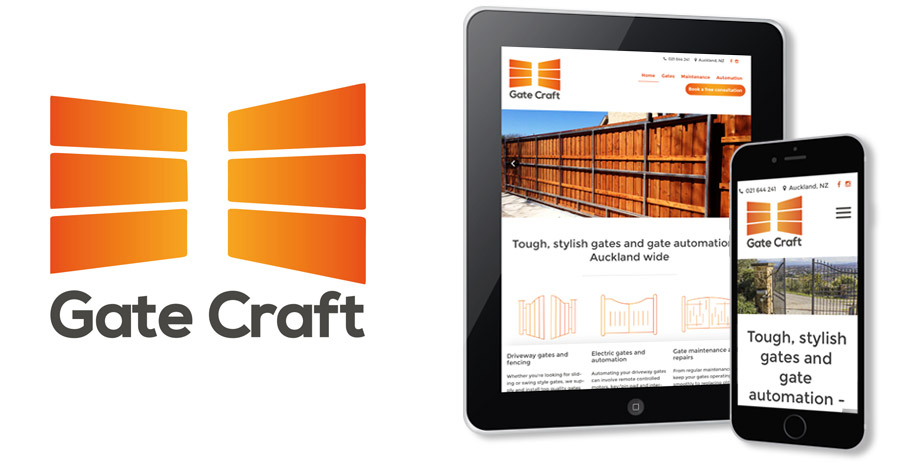 Mobile-friendly website & branding for Gate Craft