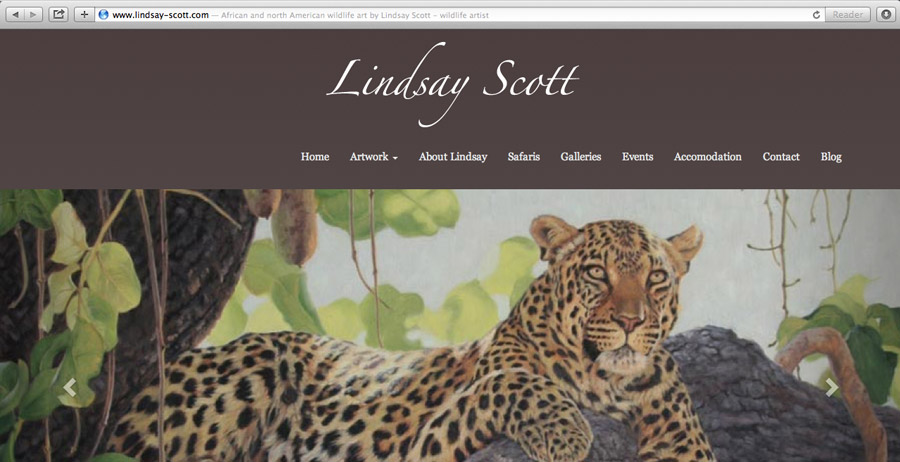 Mobile-friendly website for Lindsay Scott, artist