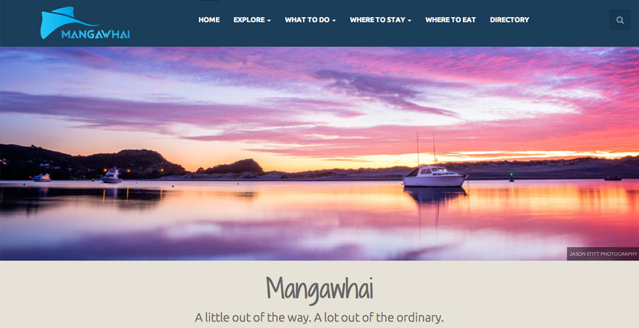Branding, mobile-friendly website & directory for Mangawhai