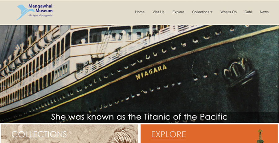 Mobile-friendly website for Mangawhai Museum
