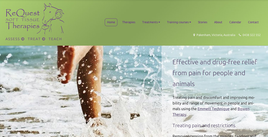 Branding, mobile-friendly website & marketing for ReQuest Soft Tissue Therapies