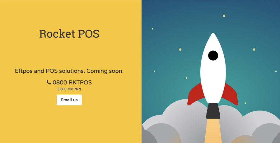 Mobile-friendly coming soon website for Rocket POS