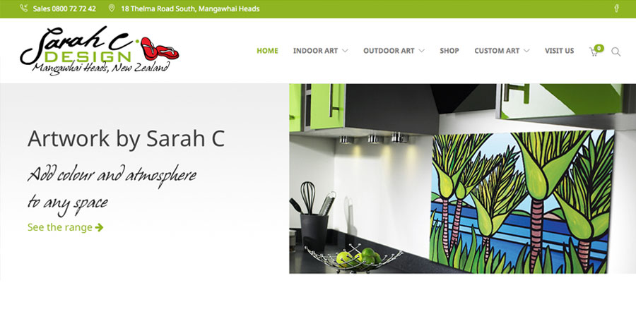 Mobile-friendly ecommerce website for Sarah C