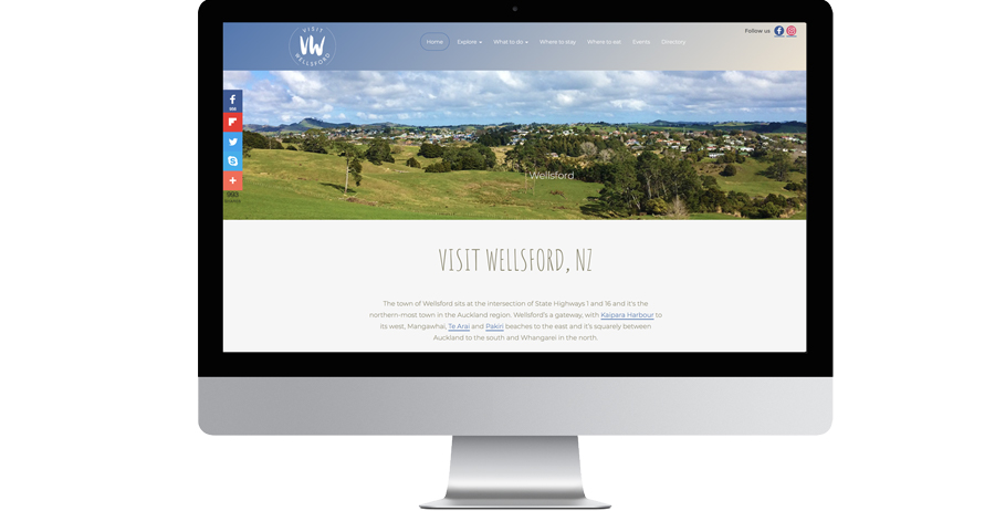 Branding, mobile-friendly website & marketing for Visit Wellsford